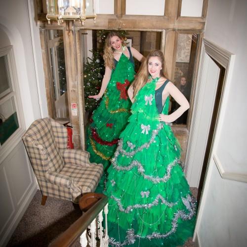 Stilt Walker Human Christmas Trees Christmas Event Uppingham Town Centre