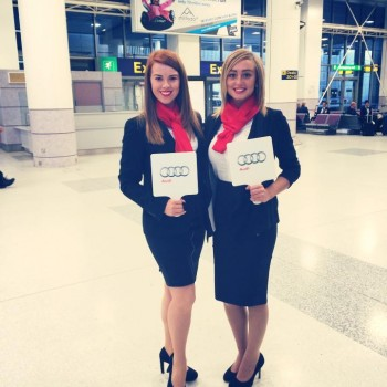 Audi Airport meet and greet Hostesses Bensons Agency