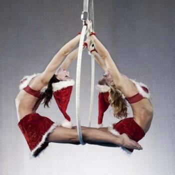 Ariel Hoop Mrs Claus acrobats