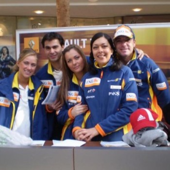 Renault promo staff for motorsport event
