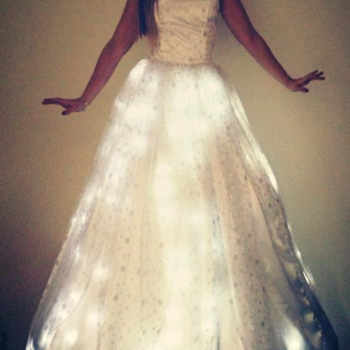 Stilt Walker in light up fairy dress