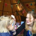 Face painter children's entertainer at Children's party
