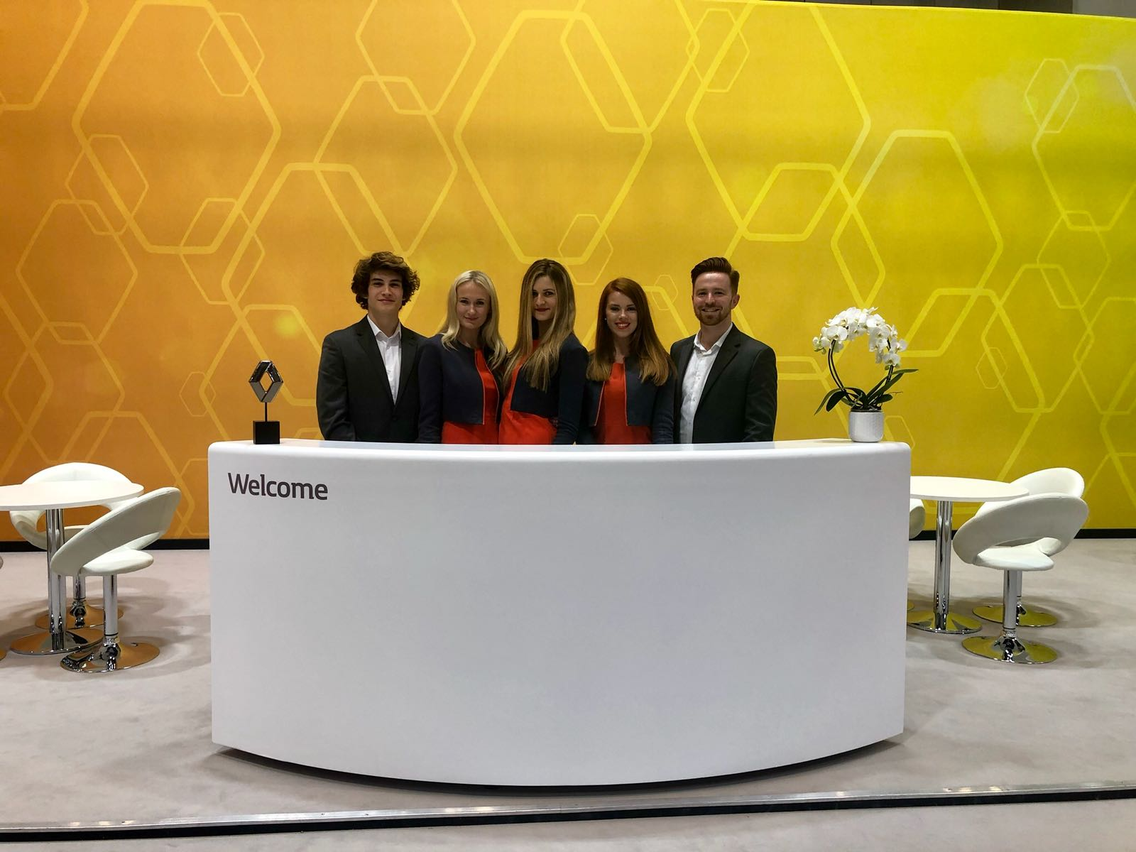 Benson's team supporting Renault at CVS Show 2018