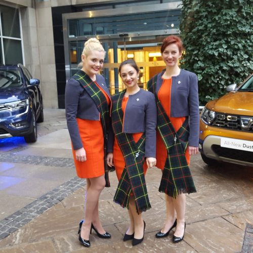 Renault UK promotional staff vehicle launch