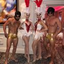 Showgirls and Elvis guys at Private event in London