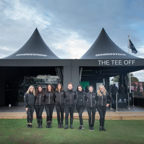 Event staff for Bridgestone's experience at the British Open 2018